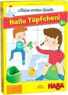 HABA 305485 - Meine ersten Spiele – Hallo Töpfchen! – kooperatives Würfelspiel für 1-4 Spieler ab 2 Jahren, 3D-Spielkulisse mit 2 Motiven für Jungs und Mädchen
