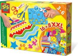 SES Creative Big Box Ich lerne schneiden 14828-Ich Bigbox, Mehrfarbig