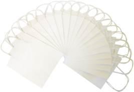 folia 21800 - Papiertüten aus Kraftpapier, Geschenktüten, 20 Stück, 18 x 8 x 21 cm, weiß - zum Basteln, Verzieren und Verschenken