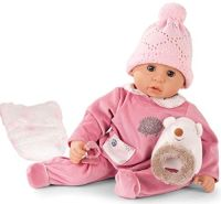 Götz 1961049 Cookie Igel Puppe - 48 cm große Babypuppe mit blauen Schlafaugen, ohne Haare und einem Weichkörper - 6-teiliges Set