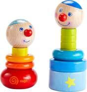 HABA 303854 - Steckspiel Farbzwerge | Holzspielzeug aus 10 bunten Steckteilen mit zwei lustigen Köpfen zum Zusammenbauen | Spielzeug ab 18 Monaten