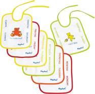 Playshoes 7-Tage-Lätzchen 7er-Pack mit Folie zum Binden