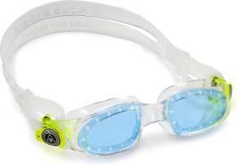 Aqua Sphere Unisex-Youth Moby Kid Schwimmbrille, transparent grün/blaues Glas, Einheitsgröße