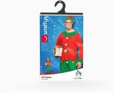 Smiffys, Herren Elfen Kostüm, Oberteil, Hose und Hut, Größe: XL, 26025