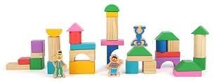 Small Foot 10970 Sesamstrasse Holzbausteine, 100% FSC-Zertifiziert, für Kinder ab 12 Monaten von der Marke Spielzeug, Mehrfarbig
