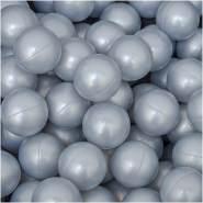50 Bälle für Bällebad 5,5cm Babybälle Plastikbälle Baby Spielbälle Silber Grau