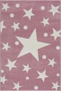 Livone 'Estrella' Kinderteppich 200x300 cm, rosa/weiss
