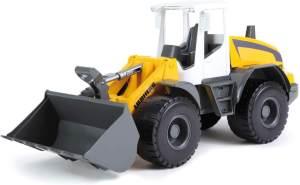 Lena 04602 Worxx Radlader Modell Liebherr L538 Litronic, ca. 48 cm, Baustellen Spielfahrzeug für Kinder ab 3 Jahre, robuster Schaufellader mit Griff und funktionstüchtiger Ladeschaufel, Single, Gelb