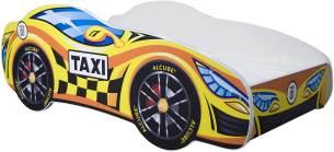 Alcube 'Taxi' Autobett 160 x 80 cm inkl. Lattenrost und Matratze, gelb