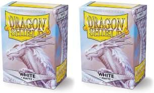 Dragon Shield Matte, Weiß / White Kartenfolien Kartenhüllen Sleeves - für Sammelkarten wie Pokemon Magic - Standardgröße
