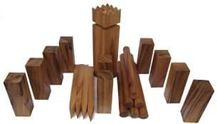 Kubb - Wikingerspiel - aus edlem harten Samena Holz - mit Tragebeutel