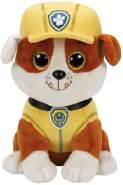 TY 41209 - Paw Patrol, Rubble mit glitzer Augen, 15 cm