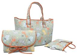 Belily World Safari Wickeltasche Set, Shopper Bag