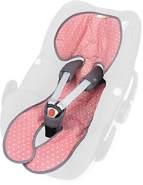 Priebes Sitzauflage Lola für Babyschalen Gruppe 0 mit Easy-out Gurtsystem | kühlt durch Luftzirkulation | Alternative zum Sommerbezug |atmungsaktiv&waschbar, Design:flamingos aqua
