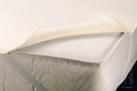 Cotonea Matratzenschutzauflage mit Eckgummis 140x200, Natur, Bio Baumwolle