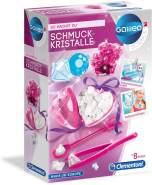 Clementoni 59062 Galileo Science – Schmuckkristalle, Spielzeug für Kinder ab 8 Jahren, bunte Kristalle züchten, Kettenanhänger zum Selbermachen, farbenfroher Experimentierkasten