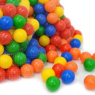600 bunte Bälle für Bällebad 7cm Babybälle Plastikbälle Baby Spielbälle