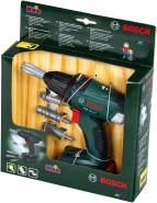 Theo Klein 8567 Bosch Akkuschrauber I Batteriebetriebener Bohrer/Schrauber mit rotierenden und auswechselbaren Aufsätzen I Licht und Sound I Maße: 20 cm x 6,5 cm x 19 cm