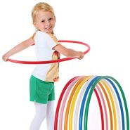 hoopomania® Kinder Hula Hoop Reifen, Durchmesser 65cm in rot