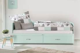 Miami Tagesbett mit 2 Schubladen, ausziehbar 90-180x200, Autometallic Lackierung