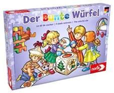 Noris 606011289 Der Bunte Würfel, der fröhliche und kindgerechte Würfelspiel Klassiker für Klein und Groß, ab 3 Jahren