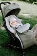 BO Baby's Only - 0+ Fußsack Autositz aus Baumwolle - Gefüttert - für 5- und 3-Punkt-Gurten - für Mädchen - Blush