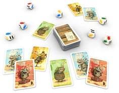Zoch 601105131 Voll verasselt, Karten-und Würfelspiel, Mehrfarbig