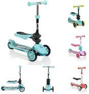 Byox Kinderroller Epic 2 in 1, Roller u. Laufrad, 3 PU Räder, klappbar, ab 3 J blau