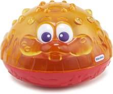 little tikes 173875GR Sparkle Bay Funkelfontäne Kugelfisch, Wasserspielzeug mit Leucht- und Spritzfunktion, orange