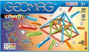 Geomag, Classic Confetti, 353, Magnetkonstruktionen und Lernspiele, Konstruktionsspielzeug, 88-teilig