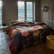 beddinghouse Mako Satin Bettwäsche 2 teilig Bettbezug 135 x 200 cm Kopfkissenbezug 80 x 80 cm Gladioli Rot