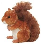 Aurora Kuscheln Mini Flopsie Nutsie Eichhörnchen 20,5 cm