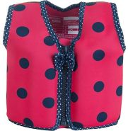 Konfidence Jacket Kinder Schwimmweste Schwimmhilfe Neopren Pink Navy Ladybird 18 Monate - 3 Jahre