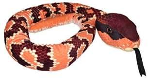 Wild Republic 23529 Plüsch Schlange Mokassinotter, Snakesss Kuscheltier, 137 cm, Multi