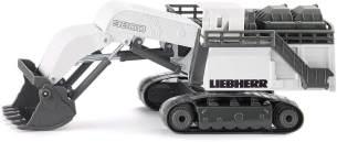 SIKU 1798, Liebherr R9800 Mining-Bagger, 1:87, Metall/Kunststoff, Weiß, Funktionsfähige Klappschaufel