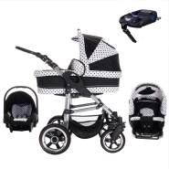 Bebebi London | ISOFIX Basis & Autositz | Hartgummireifen | 4 in 1 Kinderwagen Set | Farbe: Big Ben