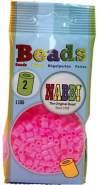 Nabbi Schmelzperlen aus Kunststoff, Plastik, Bright Pink Neon, 1100-Piece
