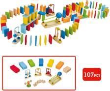 Hape E1042 E1042-Domino Fastico, 107 teilig, Mehrfarbig