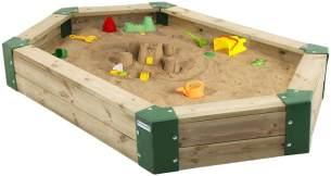Sandkasten aus Holz, 6-eckig, Holzsandkasten, Sandbox Sandkasten ohne Abdeckung