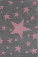 Livone Kinderteppich Happy Rugs Estrella silbergrau/rosa 200x300