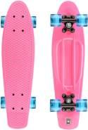 Xootz Retro-Kunststoff-Skateboard mit LED-Leuchtrollen, für Kinder, komplett, Kinder, Complete Retro Plastic, Rose