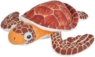 Wild Republic 21477 Plüsch Meeresschildkröte, Cuddlekins Kuscheltier, Plüschtier, 20 cm, braun