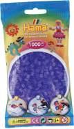 Hama 207-74 Bügelperlen Beutel, 1000-er Pack, transparent Flieder