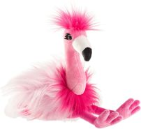 Schaffer 5571 Plüsch-Flamingo Chantal, Pink, M - 34 cm