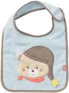 Fehn 060454 Lätzchen Bär – Kuschelweiches Babylätzchen mit Klettverschluss – Sabberlätzchen für Babys und Kleinkinder ab 0+ Monaten mit Tiermotiv – Größe: 32 cm