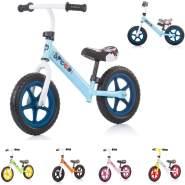 Chipolino, Laufrad Speed 12 Zoll, Gummigriff, Lenkstange Sitz höhenverstellbar blau