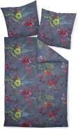 Janine Mako Satin 2 teilig Bettbezug 155 x 220 cm Kopfkissenbezug 80 x 80 cm Moments 98063-09 multicolor