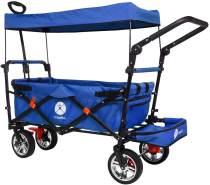 Miweba faltbarer Bollerwagen Blau