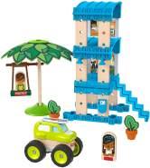 Fisher-Price GFJ13 - Wunder Werker Holzspielzeug Strandbungalow Spielset aus FSC zertifiziertem Holz, Spielzeug ab 3 Jahren