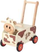 Bartl Schiebewagen Kuh aus Holz 44 cm Griffhöhe